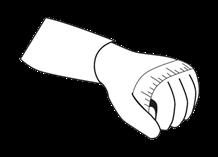 pomiar obwodu dłoni