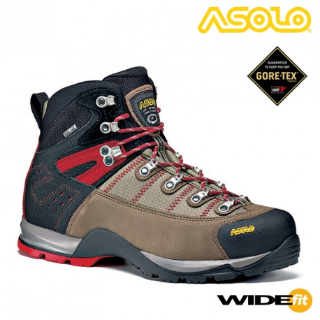 BUTY ASOLO FUGITIVE GTX WIDE FIT WOOL/BLACK