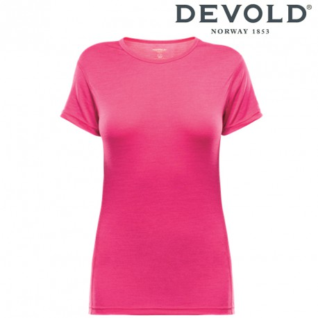 Koszulka Devold Breeze woman t-shirt - watermelon