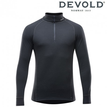 Golf Devold Duo Active man zip neck - black