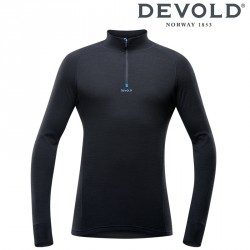 Półgolf Devold Duo Active man half zip neck - black