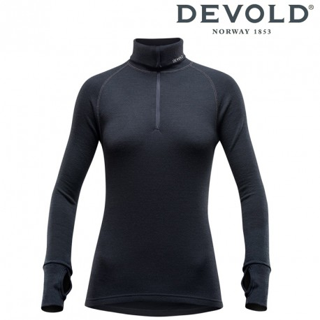 Golf Devold Expedition woman zip neck - black
