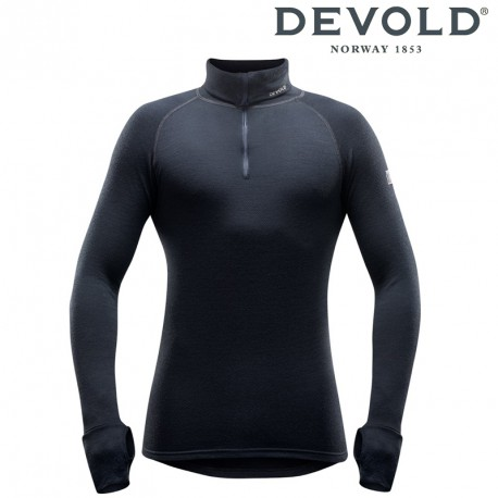 Golf Devold Expedition man zip neck - black