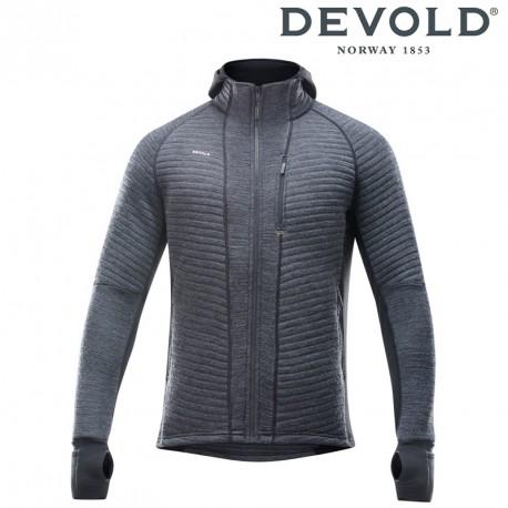Bluza Devold Tinden Spacer man jacket w/hood - anthracite