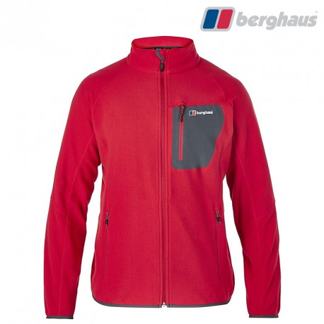 Polar Berghaus Deception Fleece Jacket - haute red