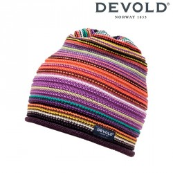 Czapka Devold Multi coloured beanie - plum
