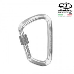 Karabinek Climbing Technology Large CF SG (Screw Gate) - silver