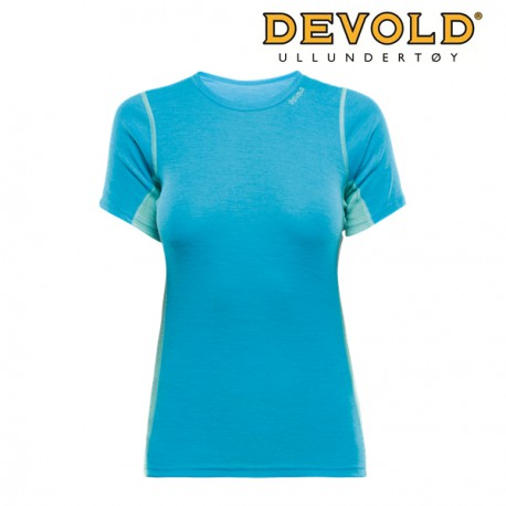 KOSZULKA DEVOLD SPORT WOMAN T-SHIRT PACIFIC/TROPICAL