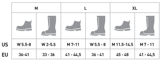 tabela rozmiarów raczki stubai mount track