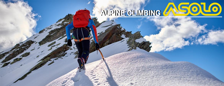 Buty wysokogórskie ASOLO z serii Alpine